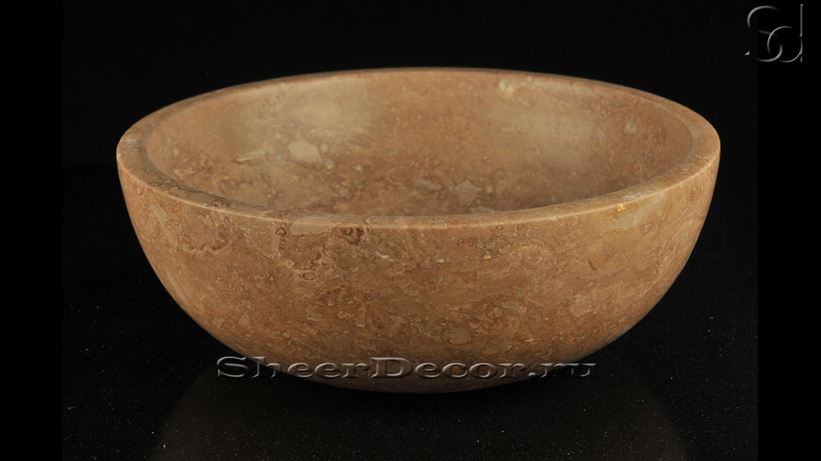Курна чаша для хамама Bowl из травертина Travertino Noce_1600_pixels_1